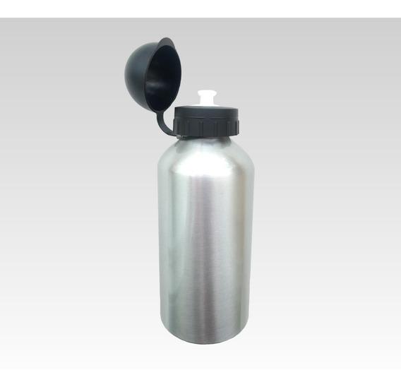 50 Squeeze Sublimação Alumínio 500ml Resinado Prata C/ Tampa