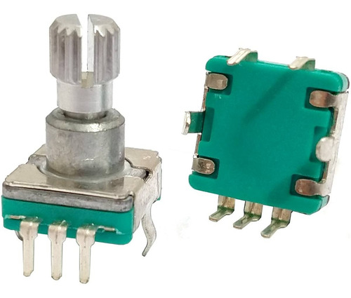 Imagem 1 de 2 de Potenciômetro Encoder Pioneer Hbuster Estriado Com Chave