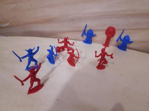 Set De Caciques X 30 Unid. Plastico Dc284 Indios Juguetes