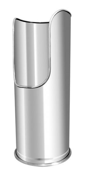 Vaso Suporte Luxo Inox De Chão Para Extintor De Pó 4kg/6kg