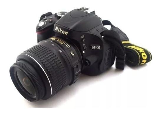 Câmera Nikon D5100 + Lente + Carregador + Cartão De Memória