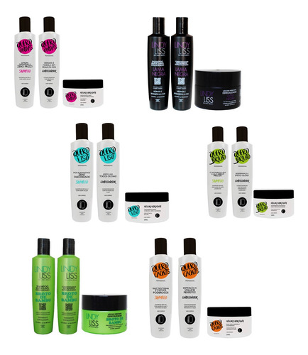 36 Itens (12 Kits) = Shampoo, Condicionador E Máscara