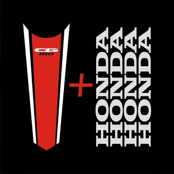 Kit Faixa De Tanque+honda Aro Titan Cg 160 150 125 300 Cb