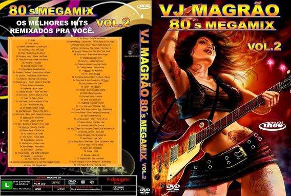 Dvd Vj Magrão 80´s Megamix Vol.2