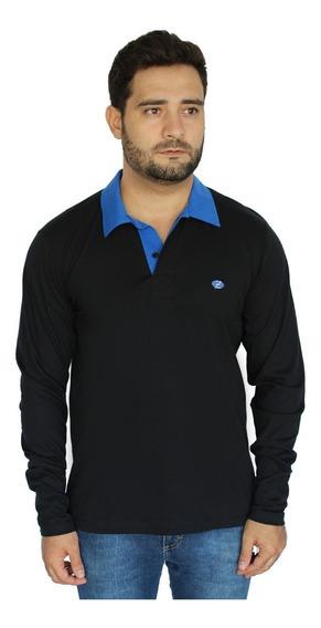 Camisa Polo Manga Longa Plus Size Extra Masculino Zambelê