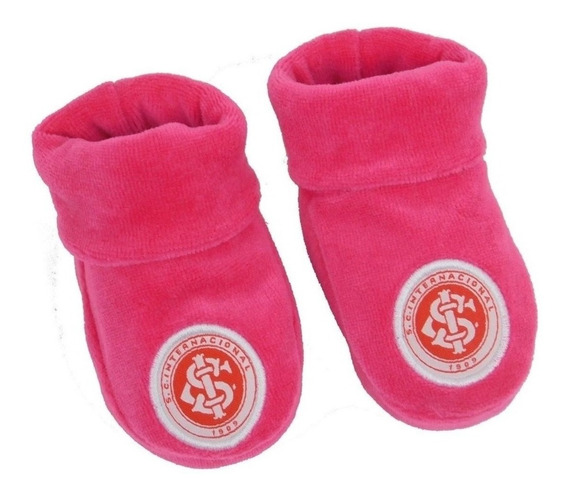 Sapatinho De Bebe Inter Rosa Meia Internacional Rosa De Bebê
