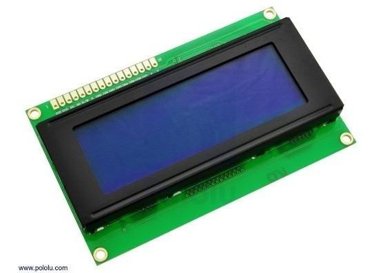 Display Lcd 20x4 2004 Fundo Azul + Adaptador I2c