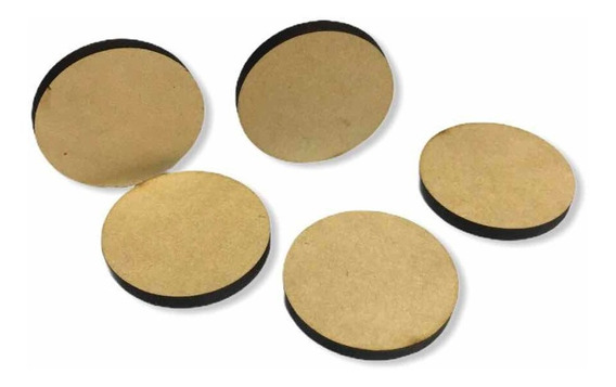 100 Círculos Mdf 3 Mm 6cm Diam. Ideal Artesanias Fichas Etc