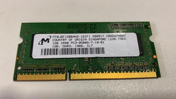 Memória Micron 1gb Pc3-8500s-07-10-b1 Mt8jsf12864hz + Frete