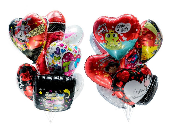 50 Globos Metalicos San Valentin 14 De Febrero Amor Corazon