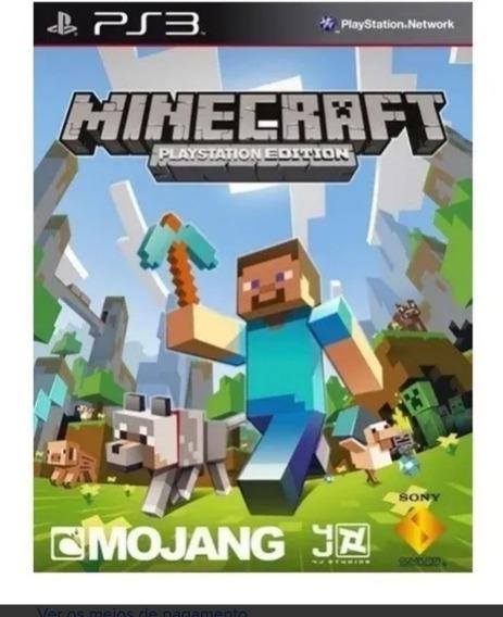 Minecraft Ps3 Psn Dublado Português Pt Br Jogo Em Promoção