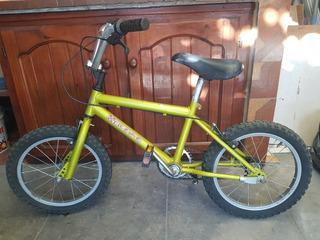 Bicicleta Bmx Rodado 16 Verde En Excelente Estado!!
