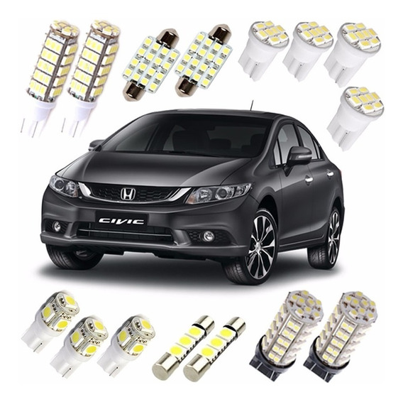 Kit Lampadas Led Civic 2014 2015 2016 Farolete Farol