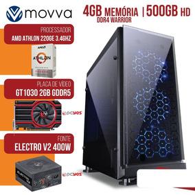 Pc Gamer Athlon 220ge 3.4ghz 4gb Ddr4 500gb Gt 1030 2gb Ddr5
