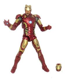 Boneco Action Figure Tony Stark Homem De Ferro 16 Cm