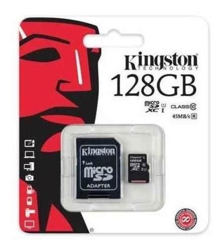 Cartão De Memória Micro Sd De 128gb ! Kingston