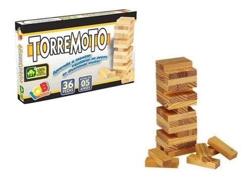 Imagem 1 de 5 de Jogo De Equilíbrio Torremoto - Brinquedo Educativo - Iob