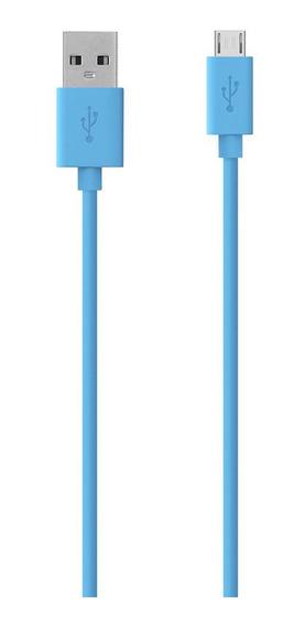Cable Belkin De Sincronización Carga Micro Usb Mixit Azul