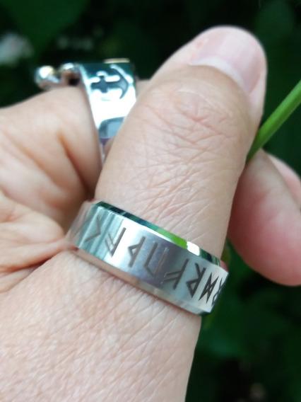 Anel Viking Retrô Norse Rune Aço 316l