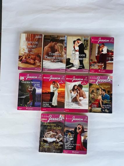 Romance Harlequin Jessica 2 Historia Coleção Livro Com 10