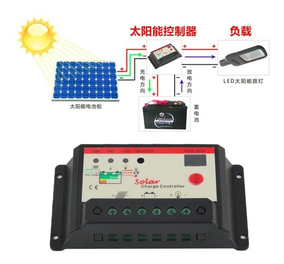 Controlador De Carga Solar 30a 12v/24v - Promoção