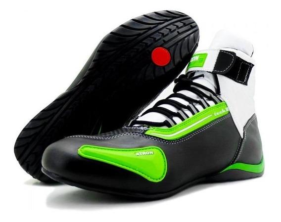 Tênis Motociclista Refletivo Cano Alto Atron Shoes 311 Top