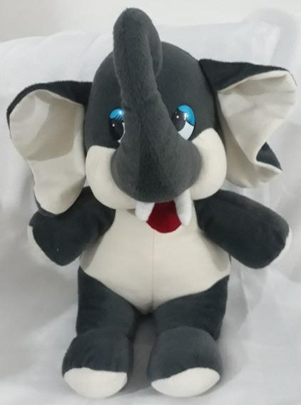 Elefante De Pelúcia 35cm X 25cm Presente Criança Aniversário