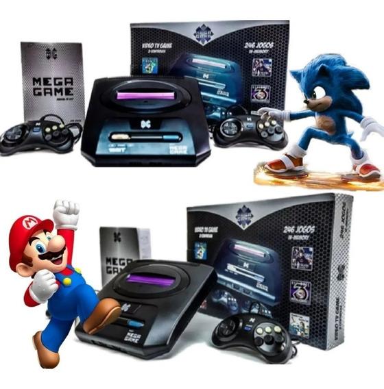 Super Video Game Retrô Mega Drive Game 123 Jogos Inclusos