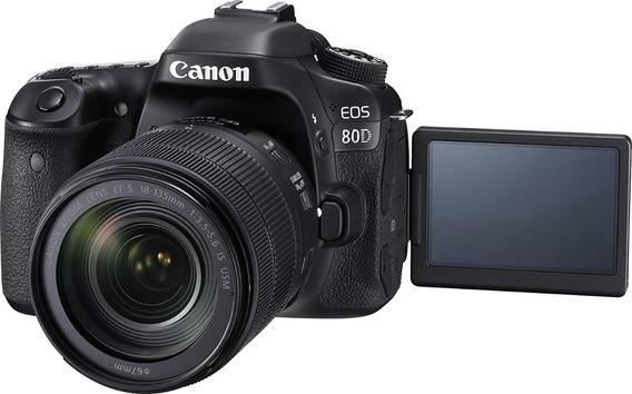 Canon Eos 80d + 2 Lentes (muito Nova)