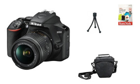 Nikon D3500 + 18-55mm + 32gb + Bolsa + Tripé Garantia Sjuros