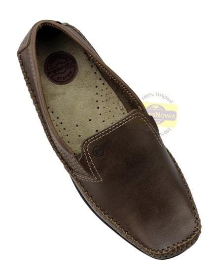 Sapato Sapatilha Mocassim Masculino Pegada Em Couro Legítimo (100% Original)