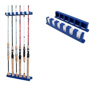 Suporte De Parede Para 6 Varas Pesca Rod Rack Aquafishing