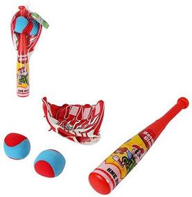 Kit Infantil Baseball Com Taco Luva E 2 Bolinhas Macia