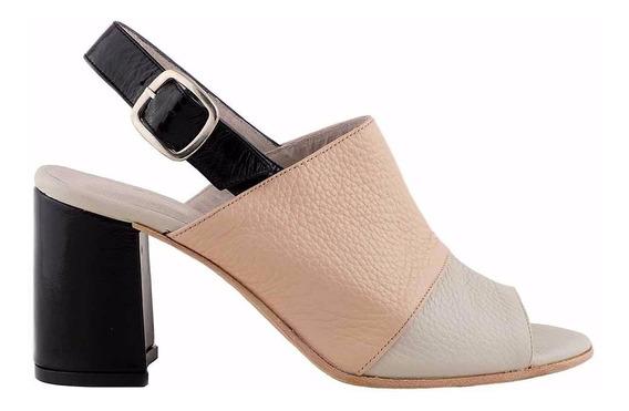 Sandalia Cuero Mujer Briganti Zapato De Vestir - Mcsd04600