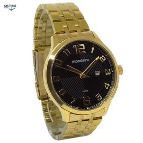 Relógio Mondaine Masculino Analógico Dourado 53572gpmvda1