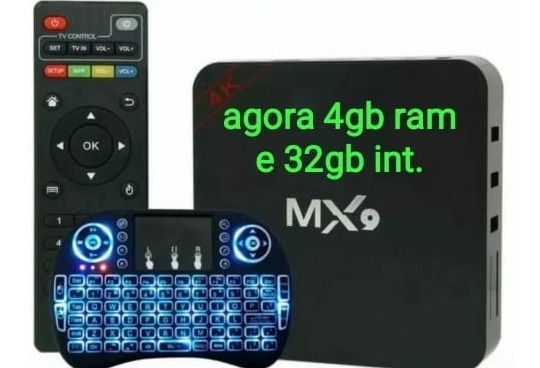 Tv Smart Conversor Box Tv + Mini Teclado Android 9.0 3gb 16