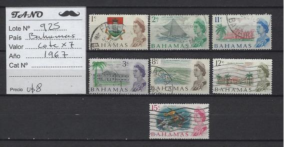 Lote925 Bahamas Lote De 7 Estampillas Año 1967 Usadas