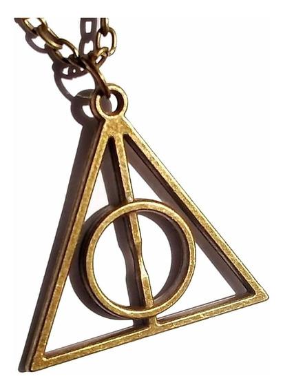 Colar Pingente Harry Potter Relíquias Da Morte Promoção