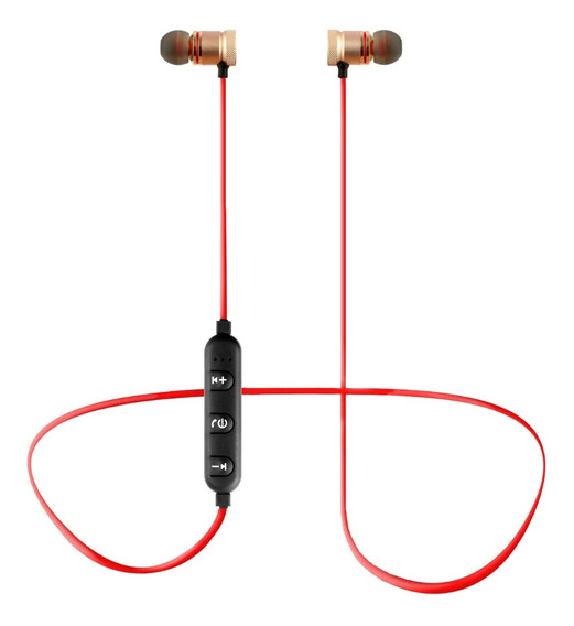Fone De Ouvido Inear Sport Bluetooth C/ Microfone Xt-6 Rose