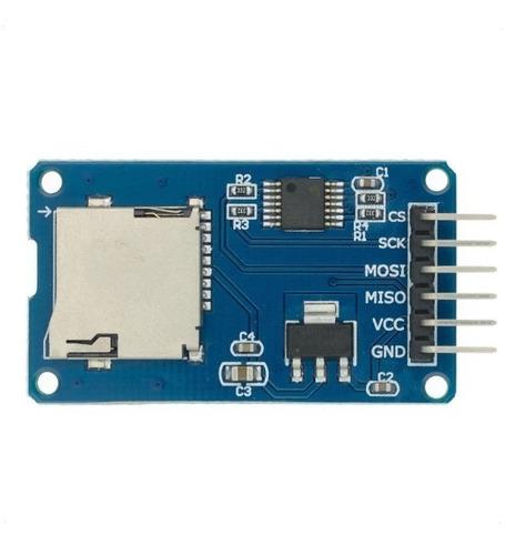 Modulo Micro Sd Card 5v Con Adaptador 3v3 Pic Arduino