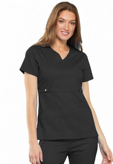 Conjunto Uniforme Médico Quirúrgico Dama Negro Diseño Elega
