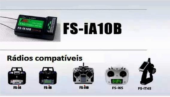 Receptor Flysky Fs-ia10b 2.4g 10ch Saída Ppm Com Porta Ibus
