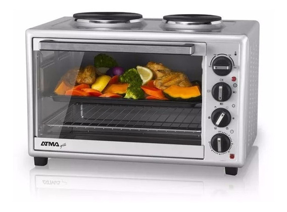 Nuevo Horno Grill Electrico Atma Hg5010ae 50lts C/ 2 Anafes!