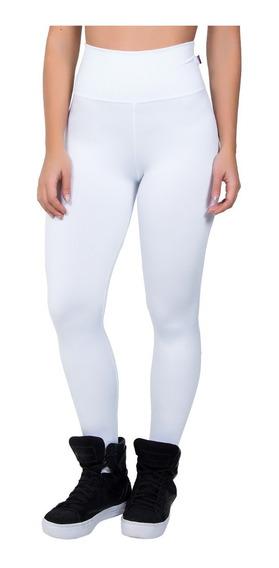 Calça Legging Branca Lisa Leg Suplex Roupas Para Academia