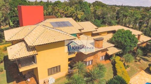 Chácara Com 4 Dormitórios À Venda, 2450 M² Por R$ 2.200.000,00 - Colinas Do Mosteiro De Itaici - Indaiatuba/sp - Ch0058