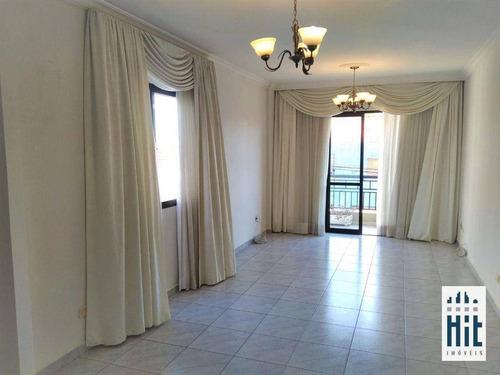 Imagem 1 de 30 de Apartamento Com 3 Dormitórios, 1 Suíte E 2 Vagas, 117 M² - Venda Por R$ 600.000 Ou Aluguel Por R$ 2.100/mês - Vila Moinho Velho - São Paulo/sp - Ap4296