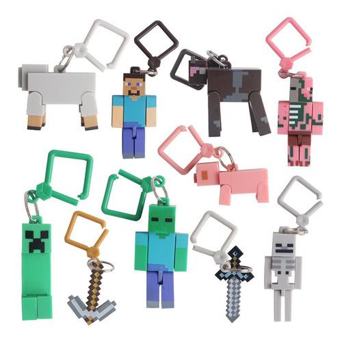 Minecraft - Paquete De 10 Figuras Para Llaveros