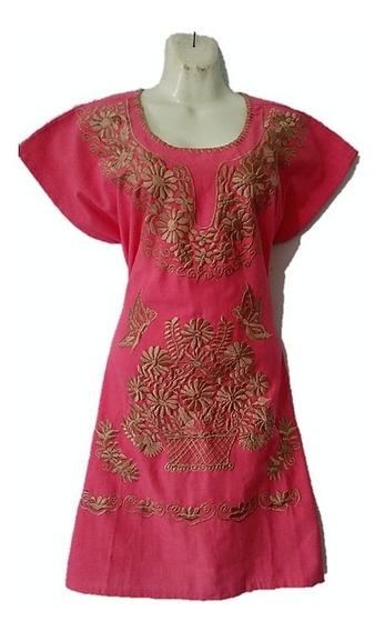 Vestido Artesanal Bordada Kimona