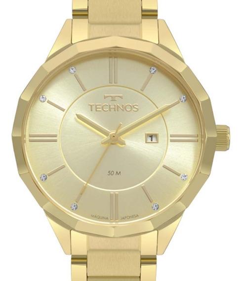 Relógio Technos Feminino Dourado Fashion Trend 2015ccl/4x + Nfe