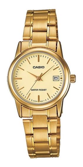Relógio Analógico Feminino Casio Ltp-v002g-9audf